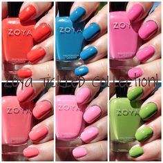 #Zoya Tickled Collection swatches+review