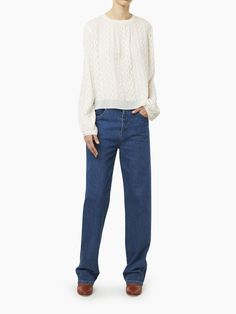 Chloé Wavy Blouse, Women's Ready To Wear | Chloé Official Website | 16AMP5816A650