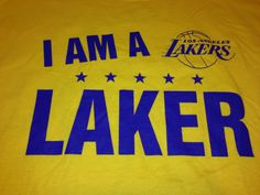 Yellow I Am A LA Laker We Are All Lakers Shirt Mens Size XL Los Angeles