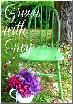 chair Annie Sloan antibes green 12...love the color