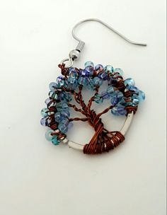 A tree made of beads and wire