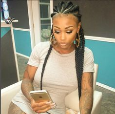 Wild Waves - 40 Gorgeous Braided Hairstyles for Short Hair – Tutorials and Inspiration - The Trending Hairstyle Tight Braids, Afro Braids, Braids For Short Hair, Cornrows, Jumbo Braids, Ghana Braids, African Braids, Box Braids, Curly Hair Styles
