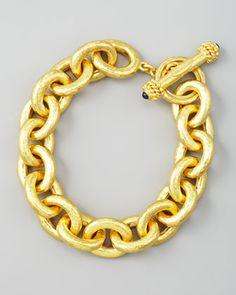 Elizabeth Locke Heavy Oval Link 19k Gold Bracelet - Neiman Marcus 12,925.