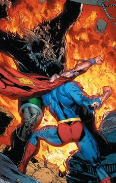 "marvel-dc-art: "" Superman: Rebirth pencil by Doug Mahnke ink by Jaime Mendoza color by Wil Quintana "" Marvel Comics, Dc Comics Superheroes, Arte Dc Comics, Action Comics 1, Marvel Films, Dc Comics Characters, Marvel Dc, Batman Vs Superman, Spiderman"