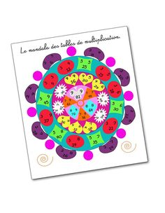 Mandala tables x Math 5, Multiplication And Division, Fun Math, Science For Kids, Science Nature, Math Tables, Math Notes, Cycle 3, Montessori Activities