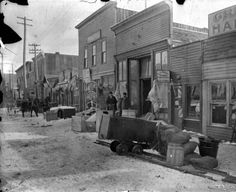 Street View and Stores ~ Cripple Creek Colorado ~ Before the fire of Apr 1896