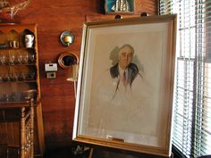 Unfinished portrait of Franklin D. Roosevelt, Little White House, Warm Springs, Georgia. ~~ 3/23/2001