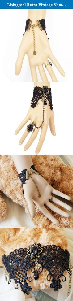 Lisingtool Retro Vintage Vampire Lace Chain Wristband Bracelet With Finger Ring. Package Include: 1pc bracelet(without retail package) Guaranteer: If you receive damaged or wrong items,please contact me and attach some pictures about your product and packages to me, i will confirm it for you,if it really has some wrong,I will exchange a new correct item to you. If you are satisfied with our product or service,please leave your positive feedback! Delievery: We ship from China,it takes…