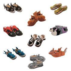 Adult-size Zooties (Felt Slippers) - Kork: Fiber Art Group via Silk Road Bazaar | Touchstone Gallery