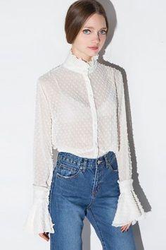 $30.99 White Ruffle Collar Blouse