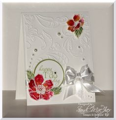 Fabulous Florets stamp set from Stampin Up and a wedding card I created