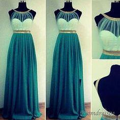 Backless long halter graduation dress, prom dress
