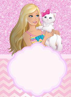 Invitaciones De Barbie Para Editar Cumpleaños De Barbie