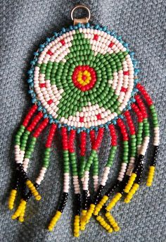 Native American Beaded Star Pendant with Glass Beads and Leather Back http://www.rubylane.com/item/494613-aj228-hse/Native-American-Beaded-Star-Pendant#.T30mDuWRSbQ.twitter via @rubylanecom