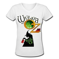 Women's The Wizard Of Oz Fashion V Neck Short Sleeve T Shirt S White NEOLBOOS