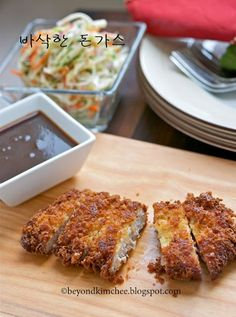 Tonkatsu.  Korean Pork Cutlet.  (We don't eat pork, but I love the preparation technique and I'm going to do this with chicken.)