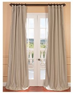 Shop for Faux Silk Taffeta Solid Blackout Single Curtain Panel. Get free delivery On EVERYTHING* Overstock - Your Online Home Decor Outlet Store! Faux Silk Curtains, Long Curtains, Sheer Drapes, Blackout Curtains, Panel Curtains, Drapery, Outdoor Drapes, Insulated Drapes, Window Treatment Store
