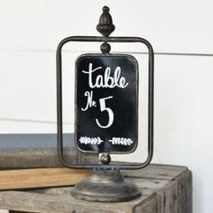 Tabletop Chalkboard On Stand