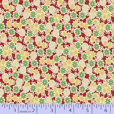 Marcus Fabrics Aunt Grace's Garden Party 3286 0311. $6.99, via Etsy.