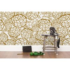 Oh Joy! For Hygge & West -Petal Pusher Wallpaper - White & Gold - Wallpaper - Wall Art - Category