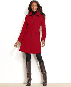 fca8320714 Kenneth Cole Reaction Wool-Blend Seamed Walker Coat Women - Coats - Macy s