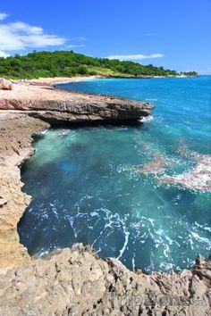 Pobřeží rezervace Guánica (Portoriko)