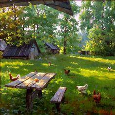 Дмитрий Лёвин художник русского пейзажа