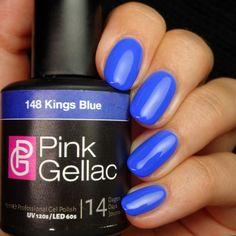 Pink Gellac 148 Kings Blue Gel-Nagellack via pinkgellac.de