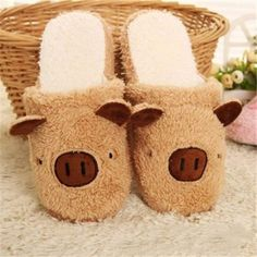 Cute Pig Slip On Flat Indoor Home Shoes - Gchoic.com