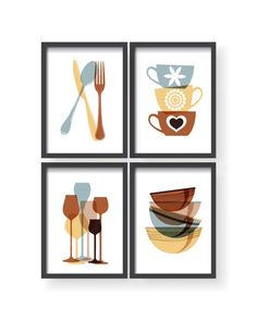 Zoom on kitchen trends 2019 - Home Fashion Trend Kitchen Artwork, Kitchen Posters, Kitchen Prints, Colorful Kitchen Decor, Kitchen Decor Themes, Modern Outdoor Kitchen, Modern Kitchen Design, Framed Wall Art, Wall Art Decor