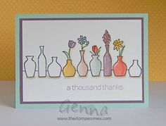 Stampin Up Vivid-Vases card