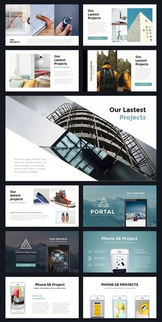 Portal Modern Powerpoint Template by Thrivisualy on Creative Market - bitcoinblockchain Web Design, Slide Design, Page Design, Layout Design, Graphic Design, Design Ideas, Book Presentation, Presentation Templates, Business Presentation