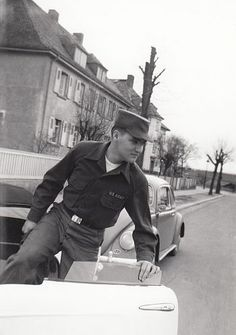 Elvis in the army in Germany in 1959