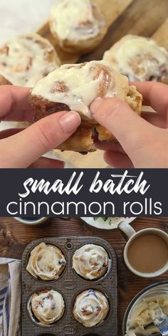 A small batch of cinnamon rolls for two, made without yeast! So quick and easy, you can make these any day of the week! A small batch of cinnamon rolls for two, made without yeast! So quick and easy, you can make these any day of the week! Quick Cinnamon Rolls, Quick Rolls, Biscuit Cinnamon Rolls, Cinnamon Bun Cake, Cinnamon Desserts, Cinnamon Roll Cookies, Cinnamon Roll Recipes, Homemade Cinnamon Rolls, Pie Crust Cinnamon Rolls