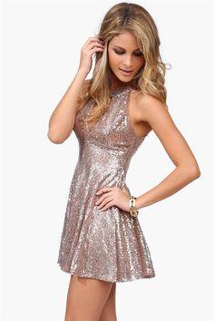 Dancing Queen Sequin Dress//