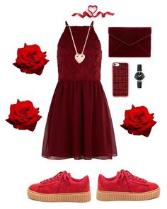 """""""valentine's day 2017"""" by daisy-alien on Polyvore featuring New Look, Ginette NY, Rebecca Minkoff, Casetify and Movado"""