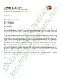elementary teacher cover letter sample - Sample Cover Letter For Teacher Assistant
