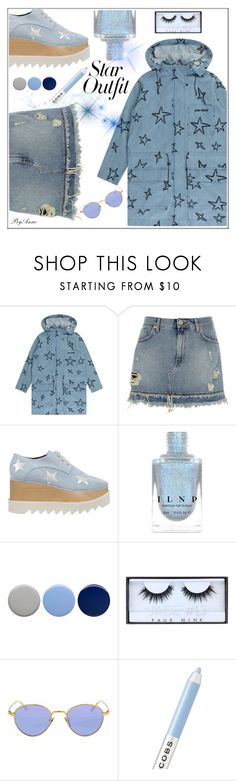 """Star Outfit !"" by anne-977 ❤ liked on Polyvore featuring Être Cécile, River Island, STELLA McCARTNEY, Burberry, Huda Beauty, Gucci, Marc Jacobs and StarOutfits"