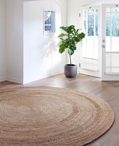 Armadillo&Co Petunia - Round Rugs - Armadillo&Co Rugs Circular Rugs, Tree Furniture, Thing 1, Home Flowers, Empty Room, Armadillo, Natural Rug, Round Rugs, Petunias