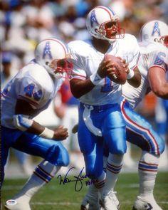 """Warren Moon Autographed 16x20 Photo Houston Oilers """"""""HOF 06"""""""" PSA/DNA Stock"""