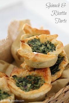 yay! SAVORY #Thermomix #recipe Spinach Ricotta Tarts via @Eva Bake