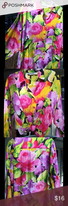 Spotted while shopping on Poshmark: Colorful Floral Design Blouse! #poshmark #fashion #shopping #style #ANDREW #Tops