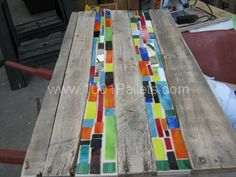 Mosaic pallet table | 1001 Pallets