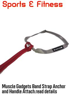 (This is an affiliate pin) Muscle Gadgets Band Strap Anchor and Handle Attachment for Resistance Band Workouts Set of Two (Gray) Band Workouts, Exercise Bands, Resistance Band Exercises, Anchor, Gadgets, Muscle, Handle, Gray, Grey