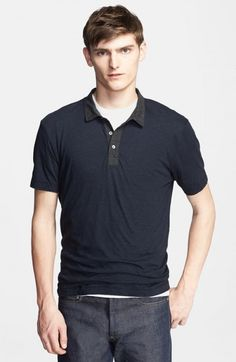0fc23105487 James Perse Melange Jersey Polo Deep Navy 0 Top | Clothing Nordstrom  Anniversary Sale, Deep