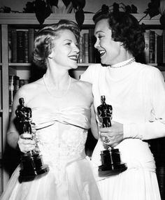 Happy winners Claire Trevor (supporting actress, Key Largo) and Jane Wyman (actress, Johnny Belinda). March, 1949
