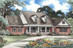 House Plan 62297    Plan with 3419 Sq. Ft., 5 Bedrooms, 5 Bathrooms, 3 Car Garage