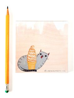 Hey, I found this really awesome Etsy listing at https://www.etsy.com/listing/239420962/ice-cream-cat-notepad-cat-paper-pad-cute