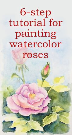 Tutorial on Painting Realistic Watercolor Roses ***Most interested in background: scroll down to background and view Arlett's background Watercolor Flowers Tutorial, Watercolour Tutorials, Watercolor Rose, Watercolour Painting, Watercolor Artists, Watercolor Portraits, Watercolor Landscape, Watercolours, Beginning Watercolor Tutorials