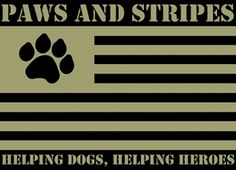 Check out this charity on eBay Giving Works! Paws and Stripes   for wounded veterans of our United States military that works to provide service dogs for Post Traumatic Stress Disorder and Traumatic Brain Injury.